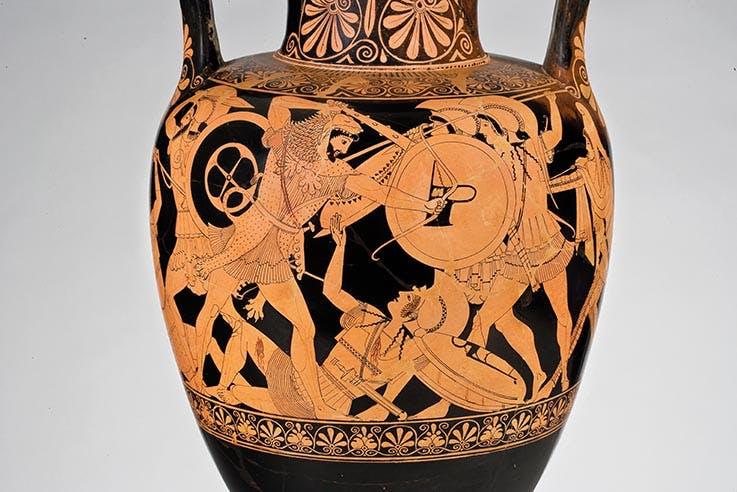 Attische rotfigurige Amphora des Berliner- Malers. Ton. Um 485 480 v. Chr., Antikenmuseum Basel und Sammlung Ludwig, Inv. Nr. BS 453