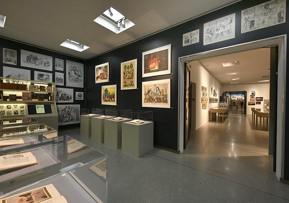 Einblick in die Ausstellung Märchen, Sagen und Symbole 4, Liechtensteinisches LandesMuseum, Beham Sven