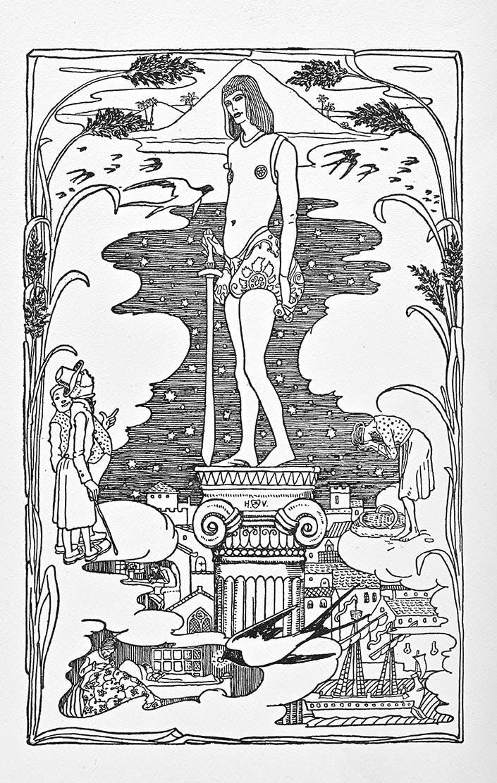 Die Erzählungen und Märchen von Oscar Wilde. Übertragungen von Franz Blei + Felix Paul Greve. Buchschmuck + Illustrationen von Heinrich Vogeler.