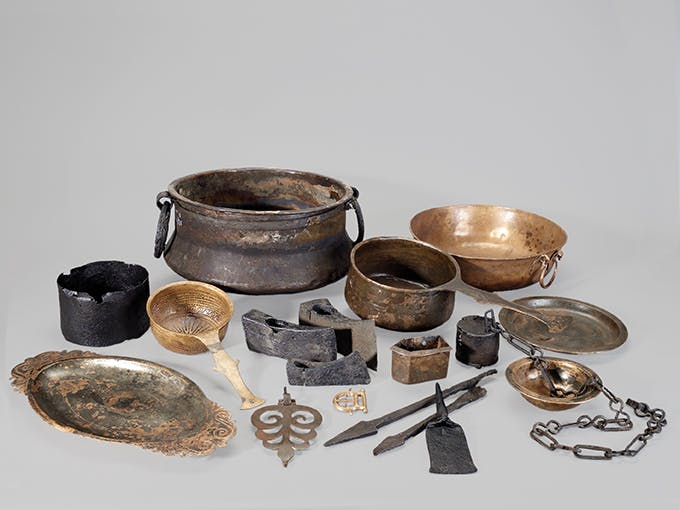 Hortfund (Auswahl). Bronze, Eisen. 2. Hälfte 3. Jahrhundert n. Chr. Neupotz, Lkr. Germersheim (DE). Leihgabe Gebrüder Willi + Ludwig Kuhn.